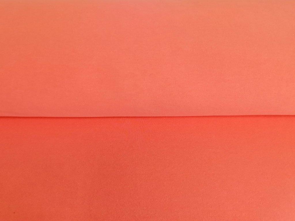 Bavlněná teplákovina s elastanem NEON ORANŽOVÉ MELÉ 5m