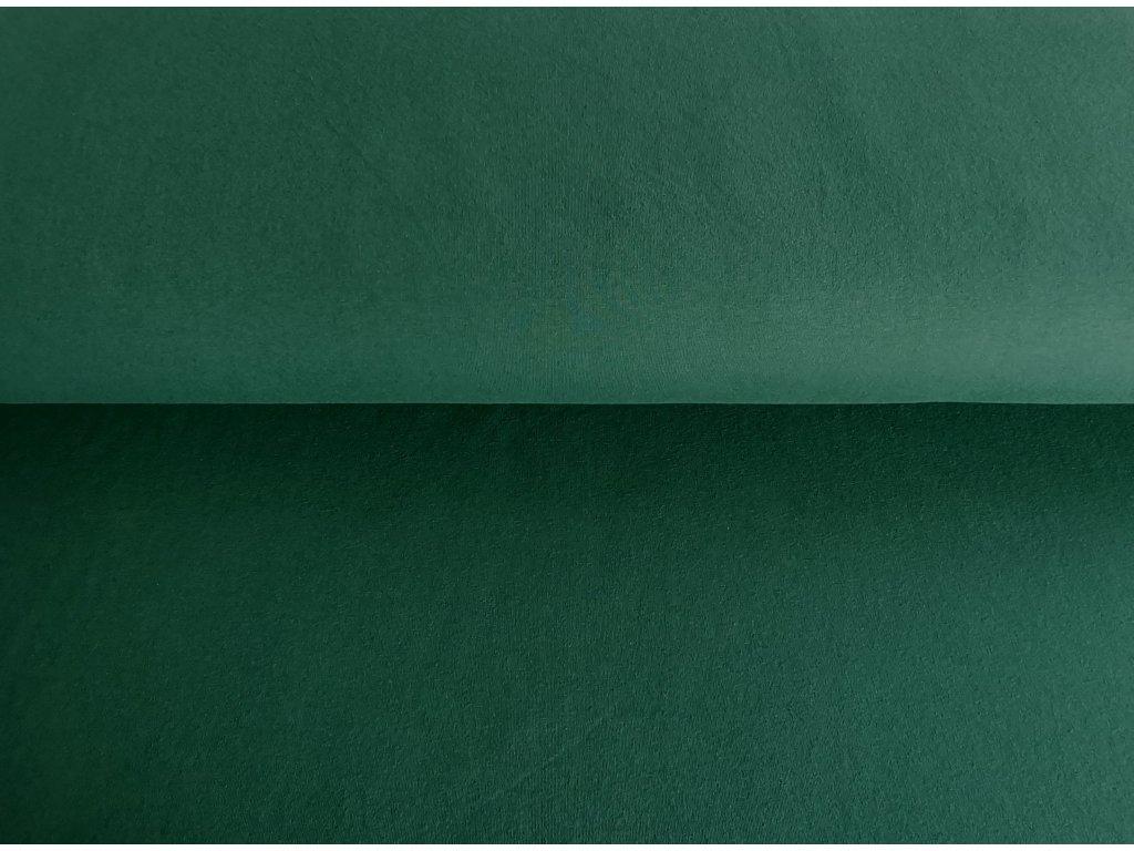 Bavlněná teplákovina s elastanem ZELENÝ LES