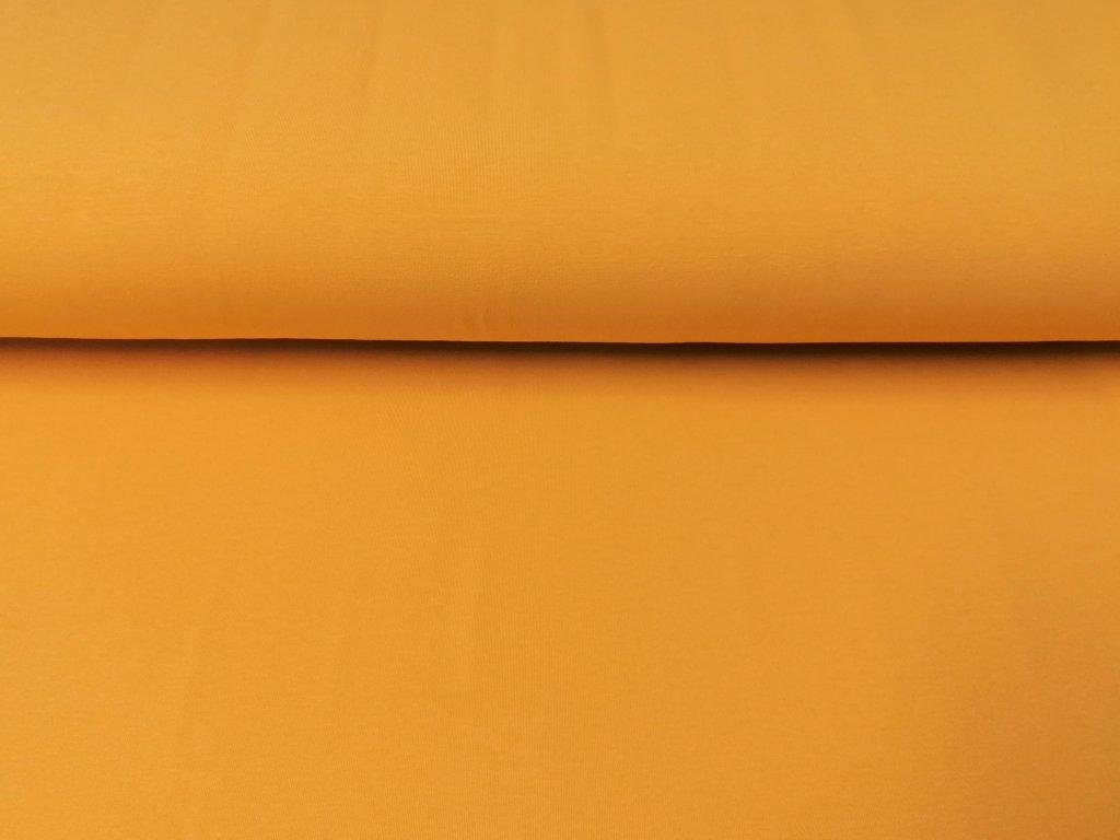 Bavlněná teplákovina s elastanem OKROVÁ 5m