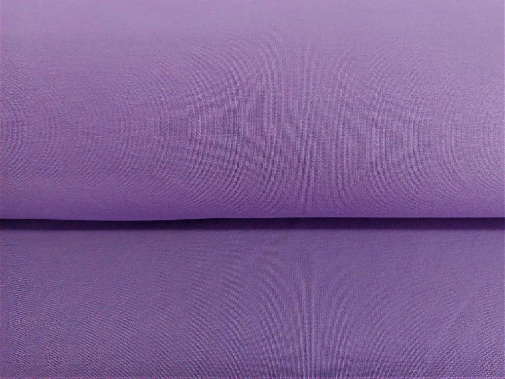 Bavlněná teplákovina s elastanem LEVANDULOVÁ 5m