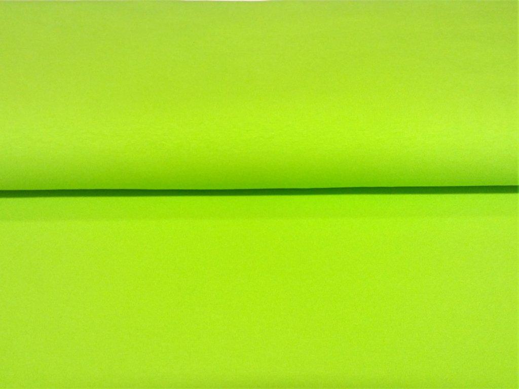bavlneny uplet s elastanem neon zeleny