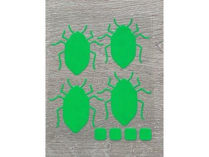 brouci neon zeleni