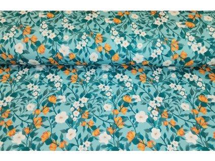 oranžovo modré květy