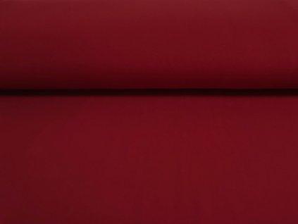 Bavlněná teplákovina s elastanem MATNĚ ČERVENÁ 5m