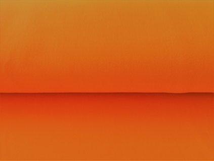 Bavlněná teplákovina s elastanem Oranžová 5m