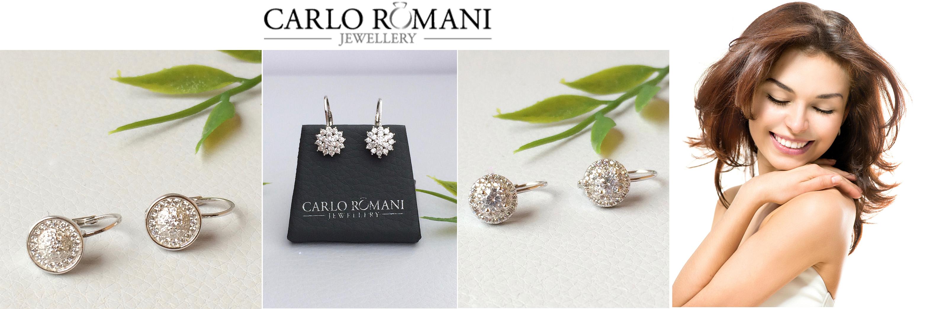 stříbrné náušnice na klasické zapinání Carlo Romani s.r.o.