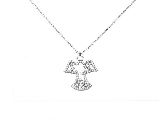 Anděl strážný ve stylu náhrdelníku