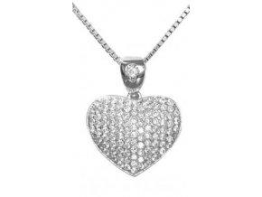Stříbrný přívěs srdce VAL 2019-3