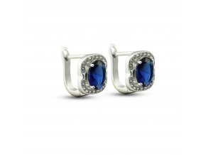 Náušnice s modrými drahokamy a zirkóny 788