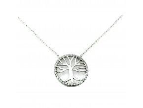 Stříbrný náhrdelník strom života