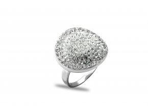 Prsten Swarovski Elements. drobné kamínky 012