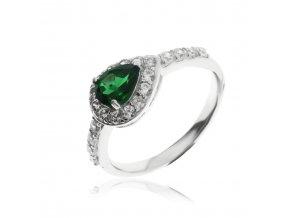 8375 stribrny prsten s zelenym agatem val2019 70
