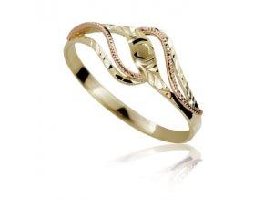 Zlatý prsten 761 ruční montáž
