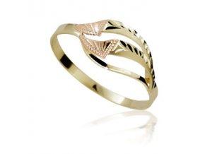 Zlatý prsten 902 ruční montáž