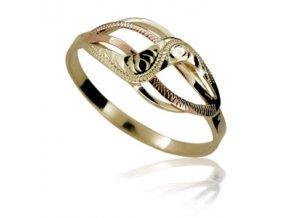 Zlatý prsten 722 ruční montáž