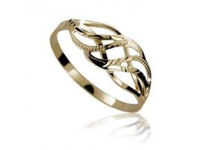 Zlatý prsten 592 ruční montáž