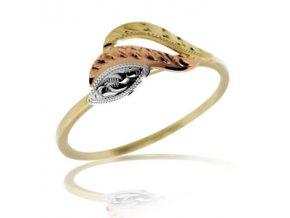 Zlatý prsten 665 ruční montáž