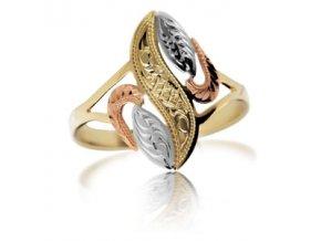 Zlatý prsten 765 ruční montáž