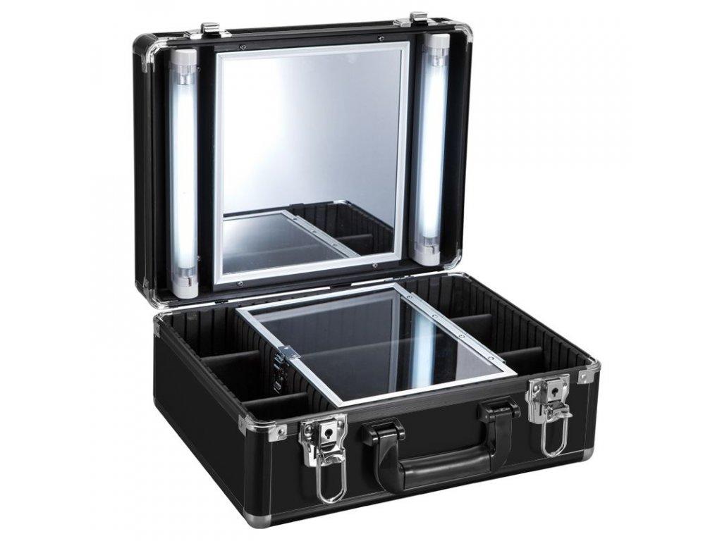 Kosmetický kufr s osvětlením GLAMOUR 9500K černý