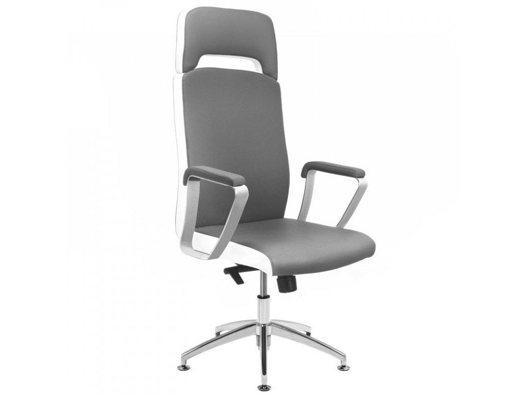Kosmetická židle RICO A1501-1 Šedá,bílá