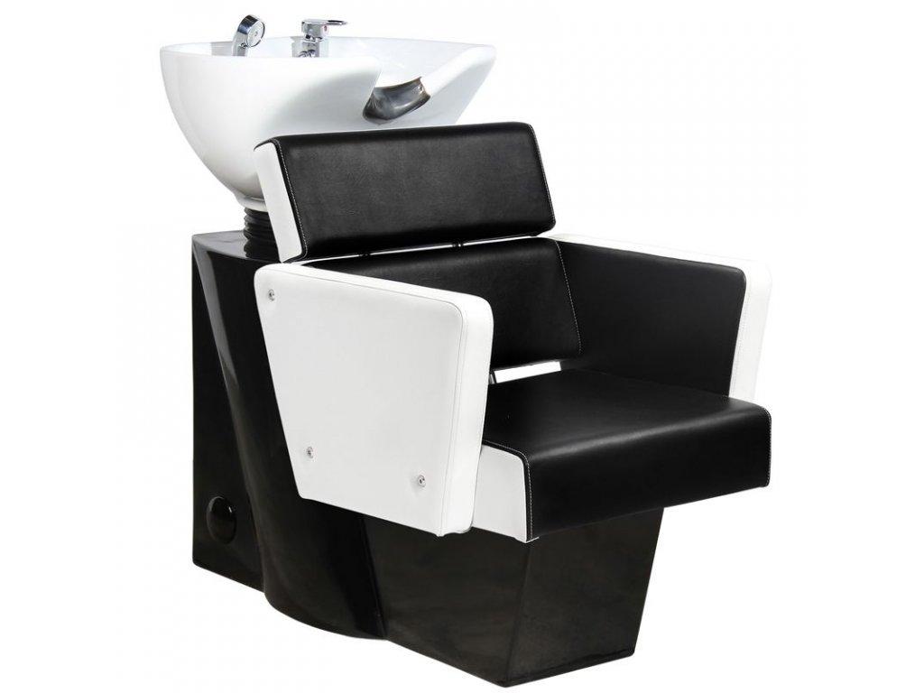 Kadeřnický mycí box GABBIANO DUBLIN bílo-černá