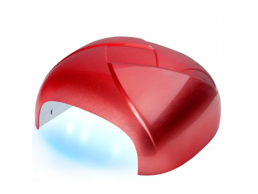 Lampa na nehty TWISTER UV DUAL LED 36W časovač + SENSORčervená
