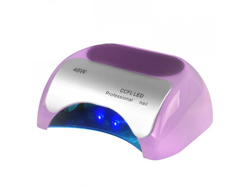 Profesionální lampa na nehty 2v1 UV LED+CCFL 48W časovač+SENSORfialová