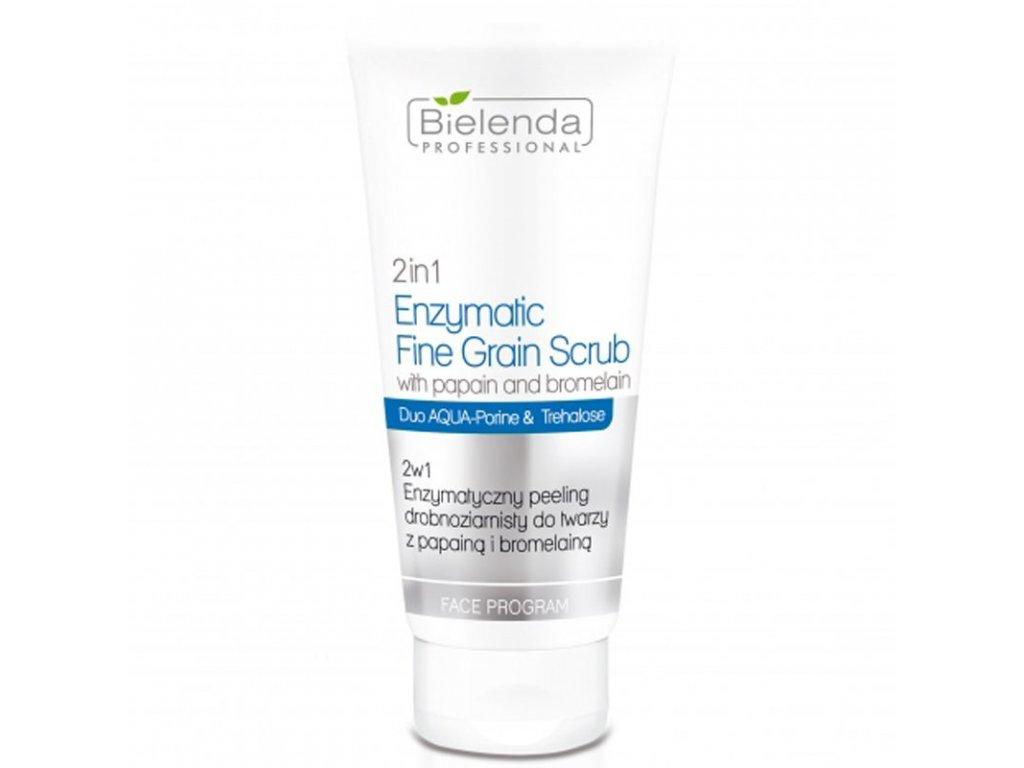 BIELENDA 2 v 1 Enzymatický jemnozrnný peeling na obličej s papainem a bromelainem 150g