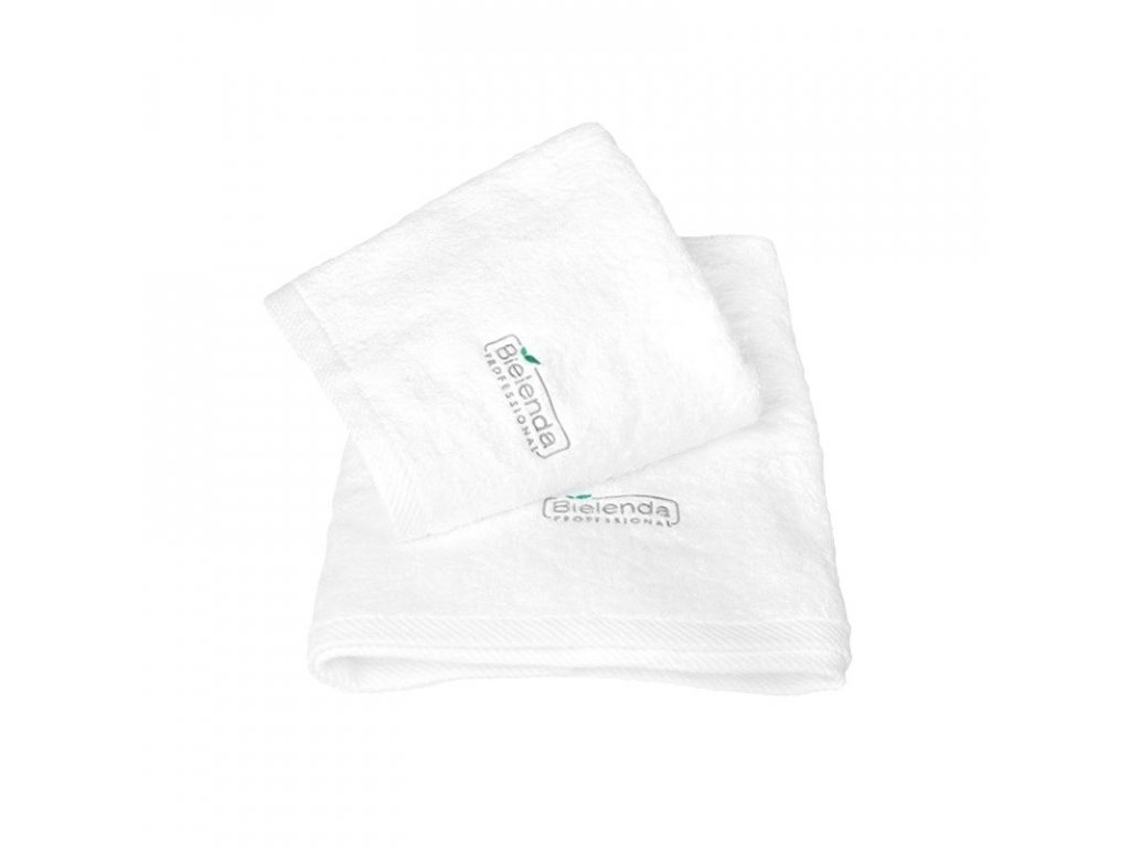 BIELENDA Froté ručník s LOGEM 70 x 140 - bílý