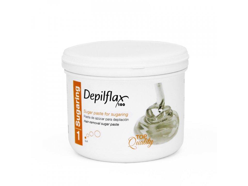 DEPILFLAX 100 Cukrová pasta na depilaci - měkká 720g