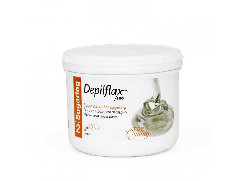 DEPILFLAX 100 Cukrová pasta na depilaci - střední 720g