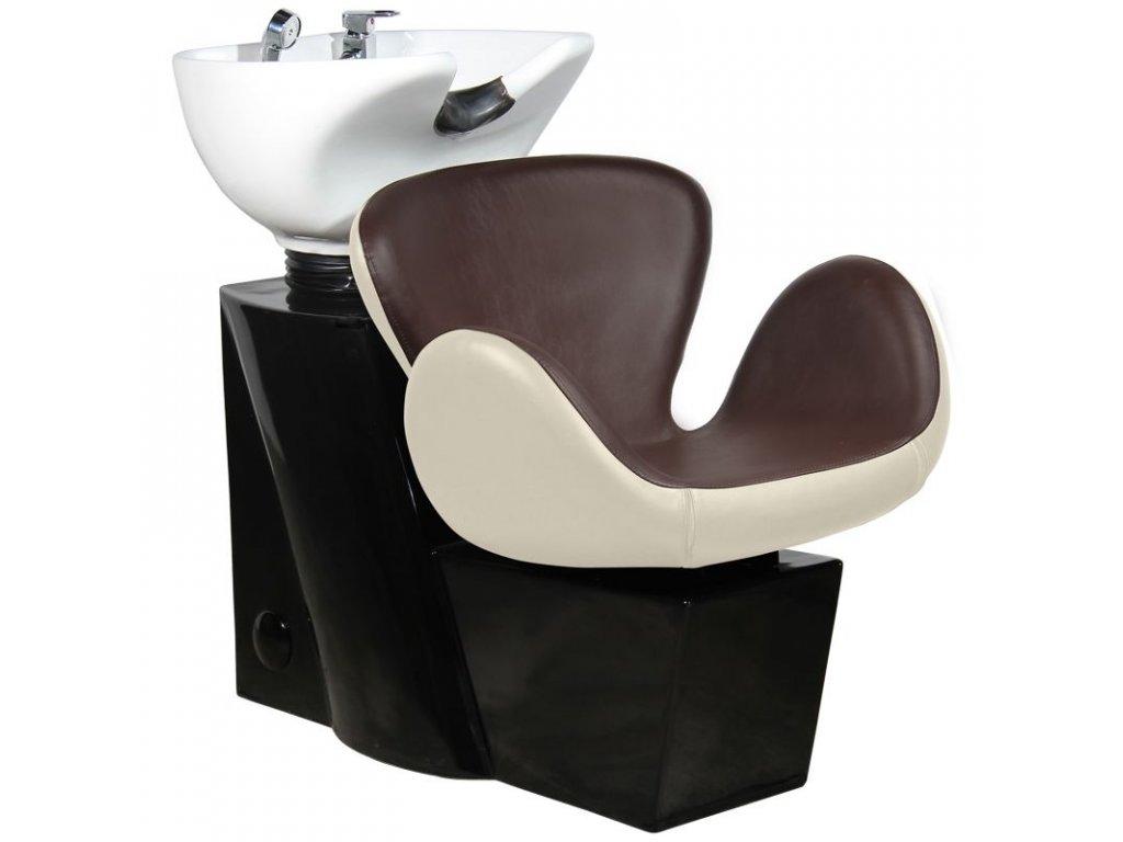Kadeřnický mycí box GABBIANO AMSTERDAM béžová