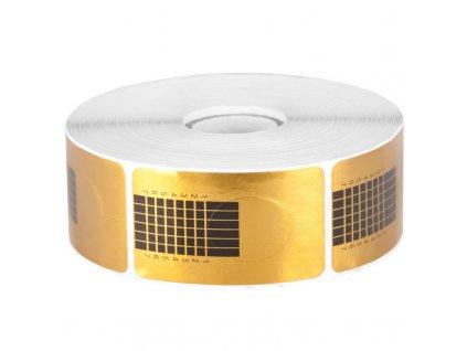 Šablona na nehty 500ks zlatá FN04