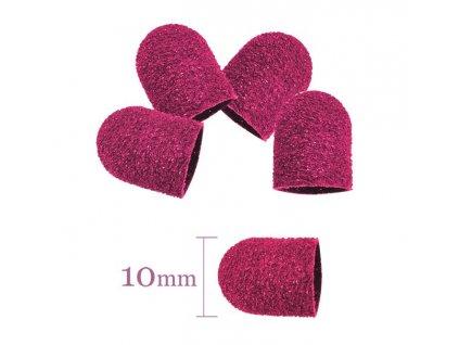 Abrazivní brusný nástavec 10MM/60 10 kusů - růžový