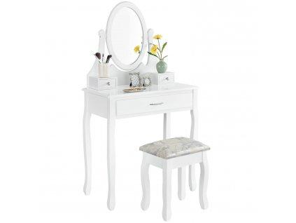 Toaletní stolek LENA s 3 zásuvky a taburet