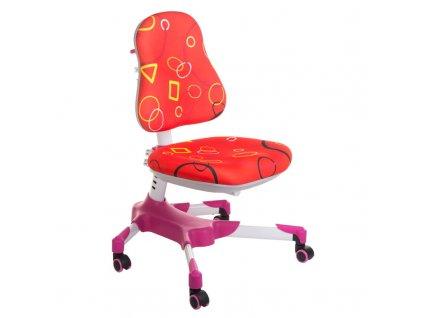 Dětská stolní židle BX-001 - červená