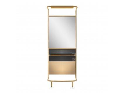 GABBIANO kadeřnická konzole- zrcadlo B087 zlatá