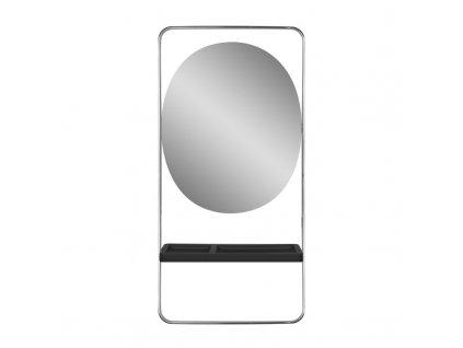 GABBIANO kadeřnická konzole-zrcadlo SOLO stříbrno-černá