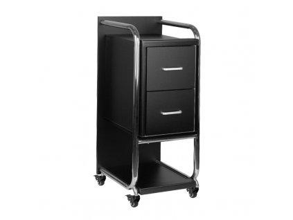 GABBIANO kadeřnický vozík SOLO stříbrno-černý
