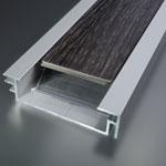 Soklový profil s vložkou a tesniacou gumou 60x15 mm