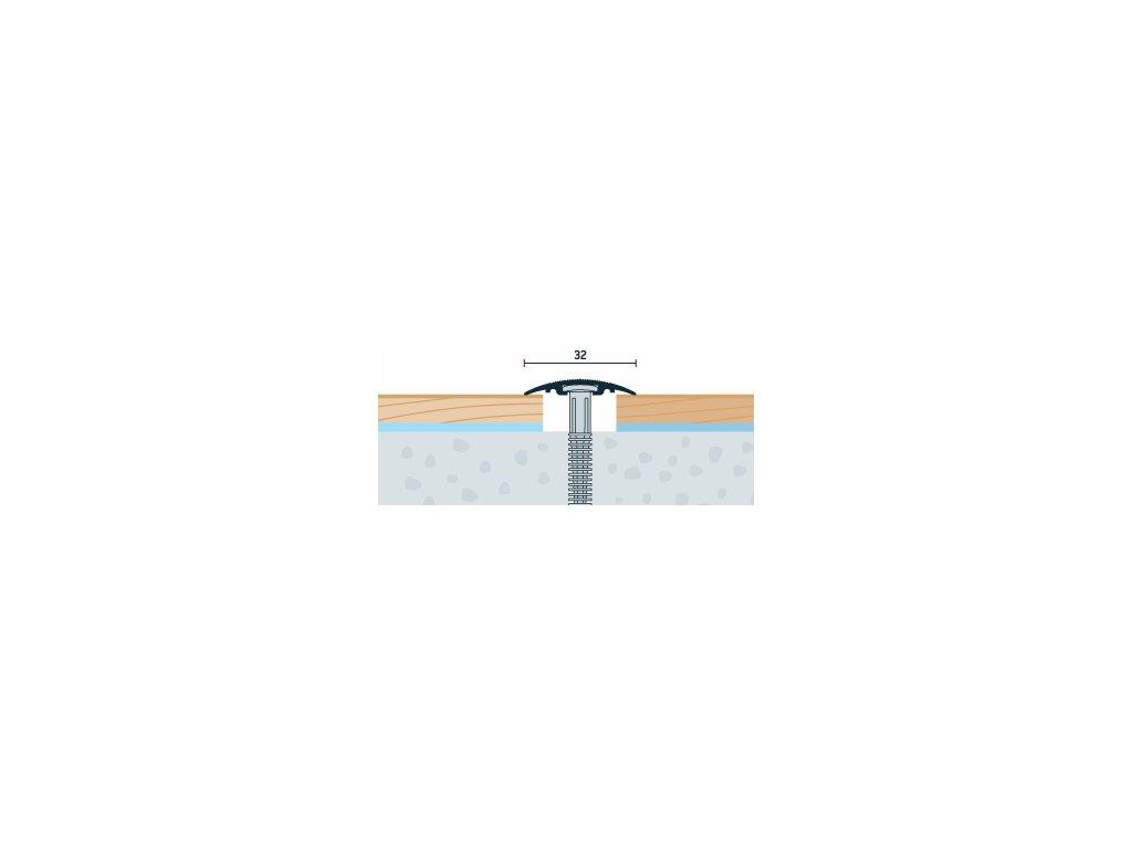 Buk Sylvatica, Prechodový profil PRINZ, šírka 32 mm, nivelácia 0-6 mm, dĺžka 90 cm