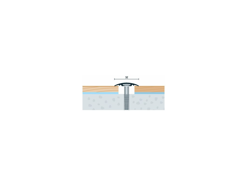 Dub Robur, Prechodový profil PRINZ, šírka 32 mm, nivelácia 0-6 mm, dĺžka 90 cm