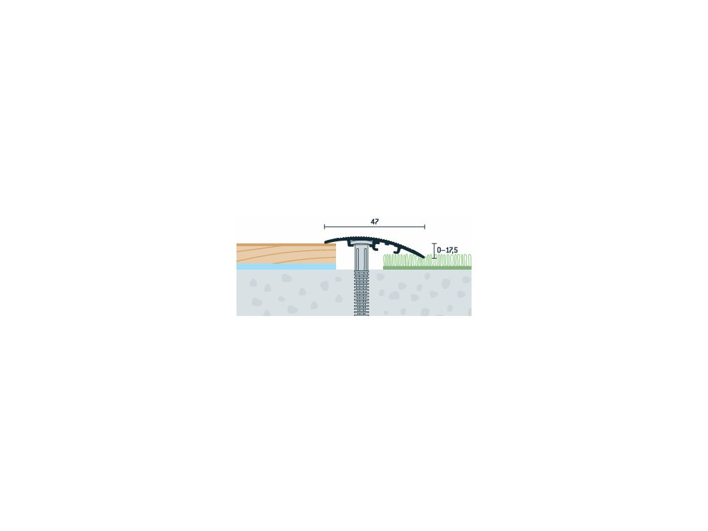 Buk Sylvatica, Prechodový profil PRINZ, šírka 47 mm, nivelácia 0-17,5 mm, dĺžka 270 cm