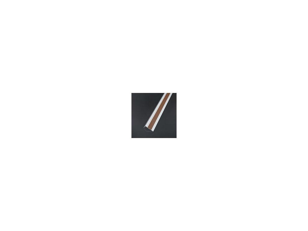 Samolepiaca krycia páska pre schodové hrany, hnedá, šírka 23 mm
