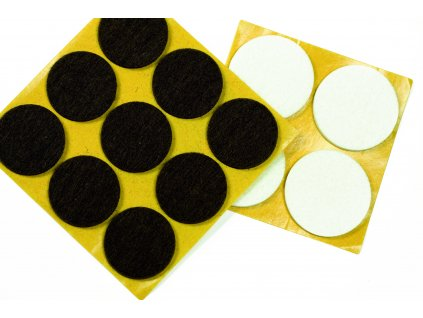 Plstené podložky 17 mm, hedá, 20 ks/1 balenie