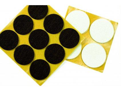 Plstené podložky 22 mm, biela, 12 ks/1 balenie