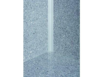 Ochranný kútový profil samolepiaci 30x30 mm, hliník, elox strieborný matný, dĺžka 250 cm