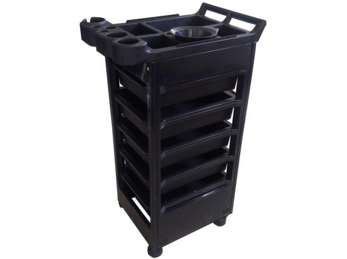Černý stolek pojízdný