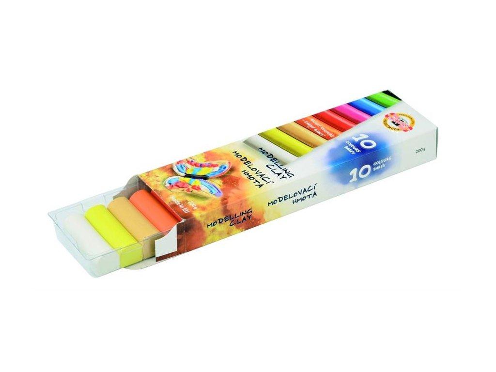 Koh-i-noor školní modelína 10 barev v krabici 200g.