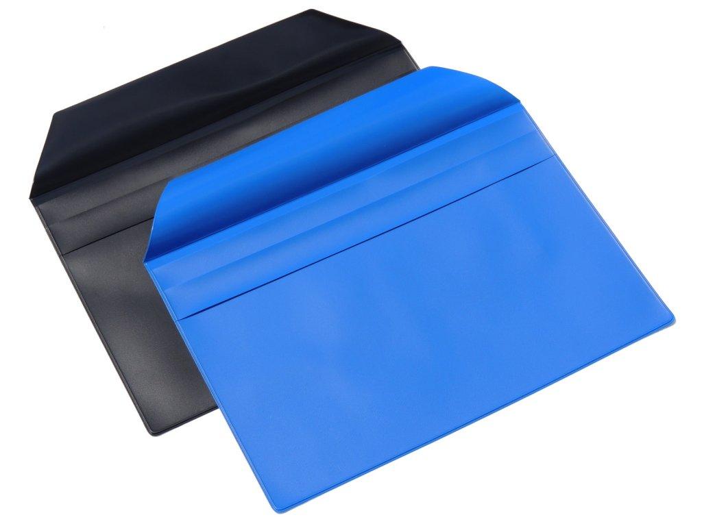 Linarts, modrá plastová obálka A4 s klopou, GDPR ready